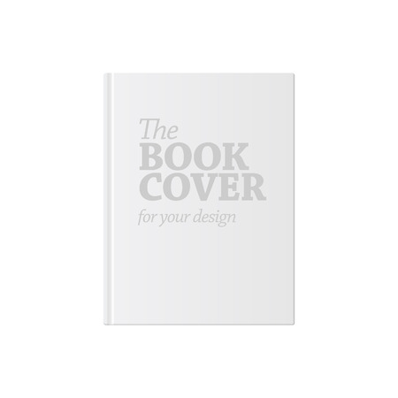 Light Realistic Blank book cover vector illustration