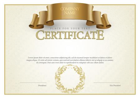 antik: Certificate. Auszeichnung Hintergrund. Gutschein. Template Diplome Währung Vektor-Illustration
