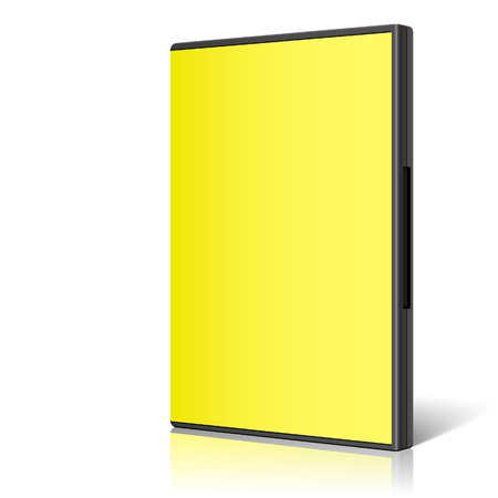 cd case: Cool Realistic yellow Case for DVD Or CD Disk. Vector Illustration
