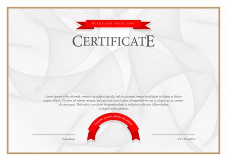 Certificado. Fondo Premio. Cheque regalo. Diplomas Plantilla moneda ilustración vectorial Foto de archivo - 42286828