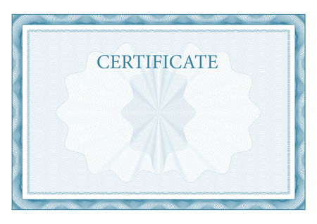 formal blue: Certificate. Award background. Gift voucher. Template diplomas and currency Vector
