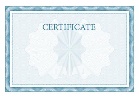 Certifikát. Award pozadí. Dárkový poukaz. Šablona diplomy a měna Vector Ilustrace