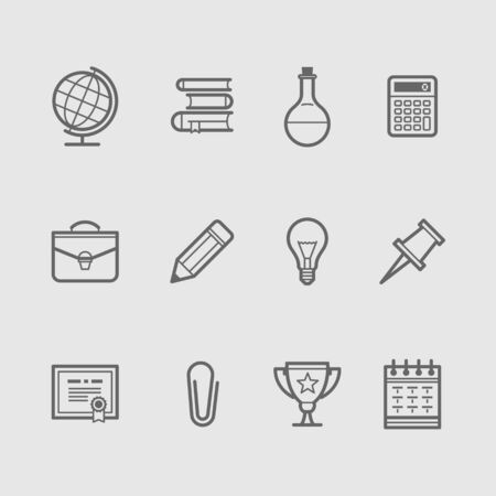 calendar icon: Education Icons Set. Vector illustration Illustration