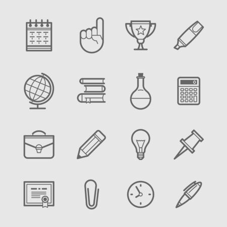 pencil set: Education Icons Set. Vector illustration Illustration