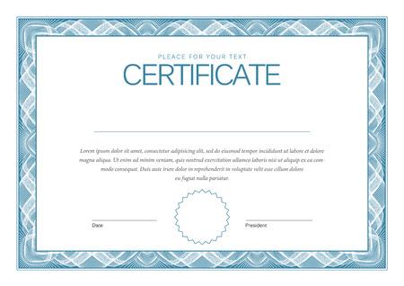 Certificaat illustratie Stock Illustratie