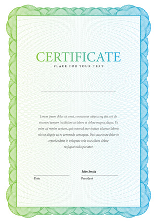 ornate border: Certificate illustration