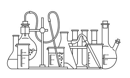 toxic substances: chemical glassware icon