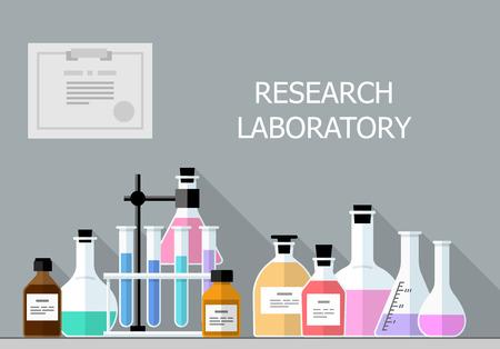 Laboratoire de recherche chimique Banque d'images - 43874540
