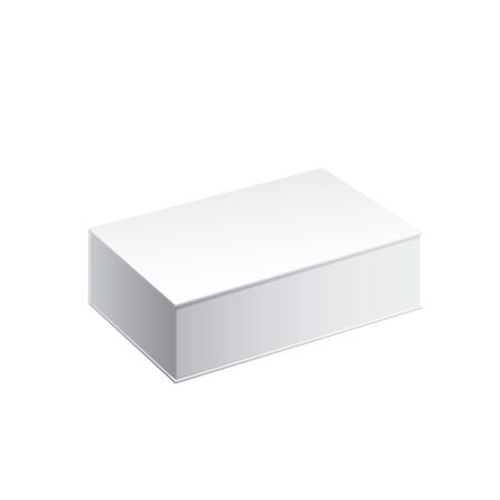 empty box: Realistic White Package Cardboard Box