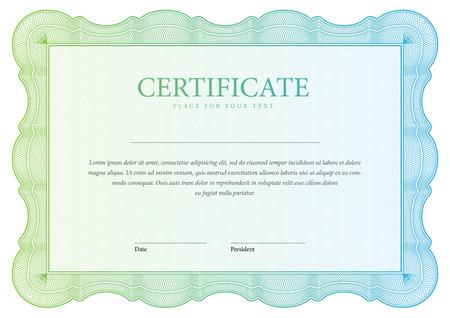 sertificate: horizontal Certificate and diplomas template. Vector