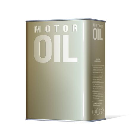 motor oil: Realistic metal containers for motor oil. Product Packing. Vector Illustration Illustration