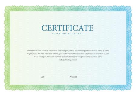 certificado: Certificado de la vendimia. Fondo Premio. Cheque regalo. Diplomas Plantilla moneda ilustración vectorial