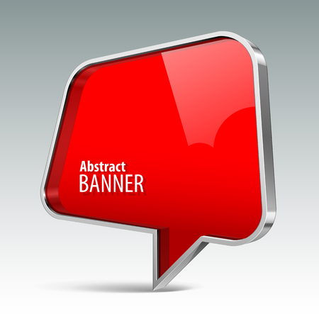 Shiny gloss red vector banner. eps 10 일러스트