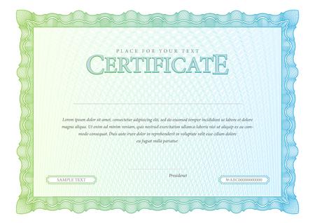 diploma: Certificado de la vendimia. Fondo Premio. Cheque regalo. Diplomas Plantilla moneda ilustración vectorial