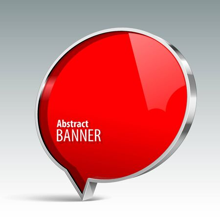 gloss banner: Shiny gloss red vector banner. eps 10 Illustration