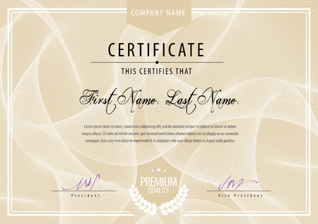 diploma template: Modern Certificate. Template diplomas, currency. Vector