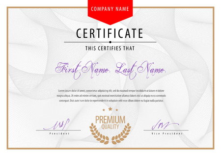 Modern Certificate. Template diplomas, currency. Vector