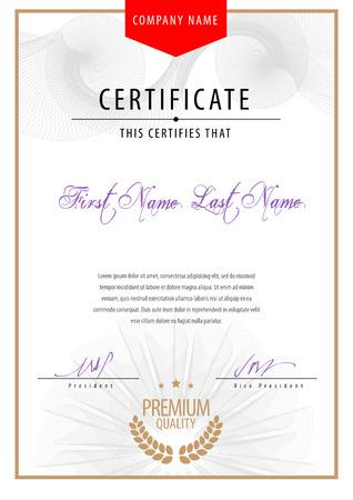diploma: Certificado moderna. diplomas plantilla, moneda.