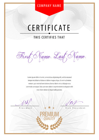 certificate design: Modern Certificate. Template diplomas, currency.