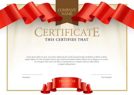 Modern Certificate. Template diplomas, currency. Vector