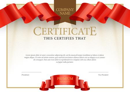 Nowoczesne certyfikatu. Szablon dyplomy, waluty. Wektor