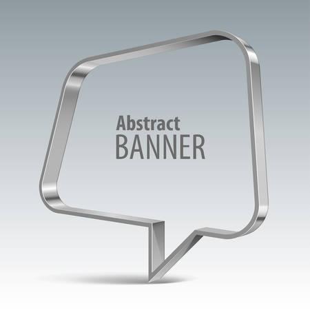 vector banner: Shiny metal vector vector banner. Illustration