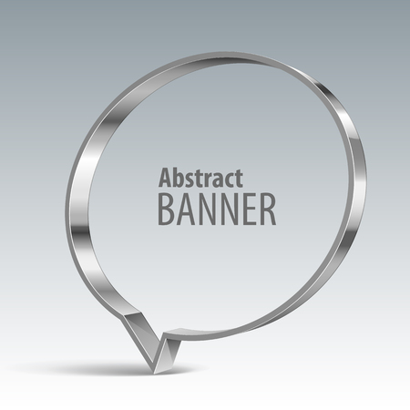 shiny metal: Shiny metal vector vector banner. Illustration