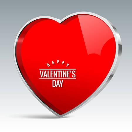 dialogo: elemento de color rojo brillante en la forma de un corazón con adornos de metal brillante. El símbolo para el diseño