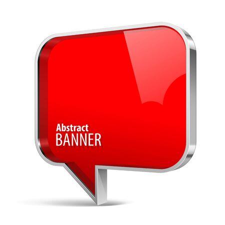 Shiny gloss red plastic banner.