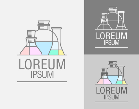 apparatus: Vector sign template. Cans, flasks.   of the chemical laboratory of the research center, a pharmaceutical laboratory. Medication