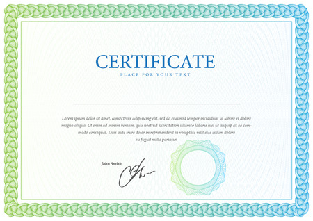 certificate  calligraphy: Certificate. Template diplomas, currency. Vector