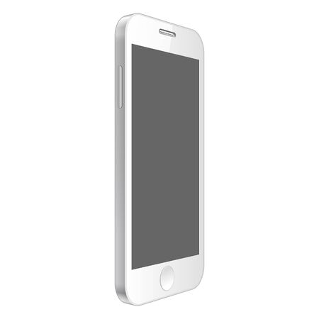 pda: Realistic smartphone. White modern telephone on a white background. Mock Up Template. Vector illustration Illustration