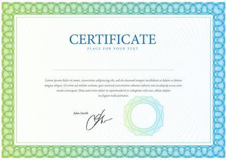 decoratif: Certificat. Diplômes modèle, la monnaie. Vecteur Illustration