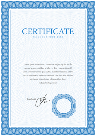 sertificate: Certificate. Template diplomas, currency.  Award background. Gift voucher. Vector