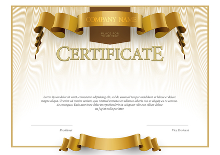 sertificate: Modern Certificate. horizontal Template diplomas currency. Vector