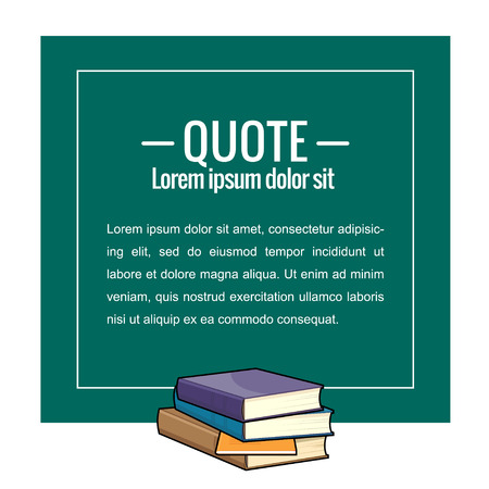 message board: Sticker in the form of educational board. Quote, message. Vector illustration. Stock Photo