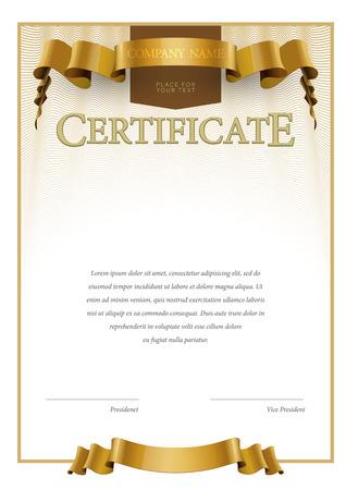 sertificate: Modern Certificate. Template diplomas currency. Award background. Gift voucher. Vector