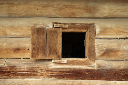 country house style: Window in wooden old house. Country style