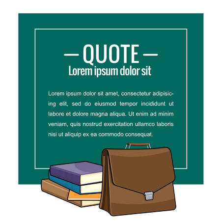 sticky: Sticker in the form of educational board. Quote, message. Vector illustration. Illustration