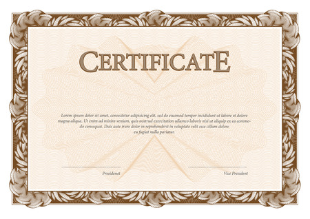 Certificate Template Diplomas Currency Award Background Gift