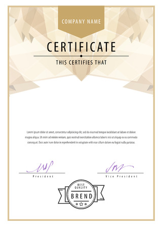 sertificate: Certificate. Award background. Gift voucher. Template diplomas currency Illustration