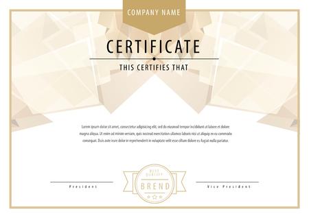 award background: Certificate. Award background. Gift voucher. Template diplomas currency illustration Illustration