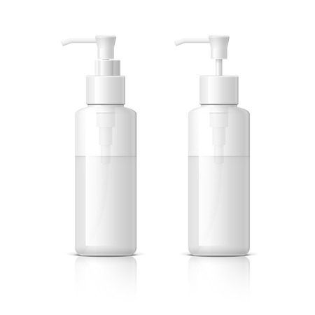 shaver: Realistic Cosmetic bottle can sprayer container. Dispenser for cream, soups, and other cosmetics With lid and without. Template For Mock up Your Design.