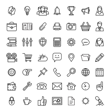 Communication strategy: line icons set isolated illustration. Icons for business, management, finance, strategy, planning, analytics, banking, communication, social network, affiliate marketing.
