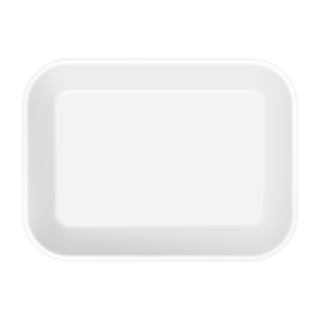 food tray: White  Food Tray pack. Template For Mock up Your Design. vector illustration.
