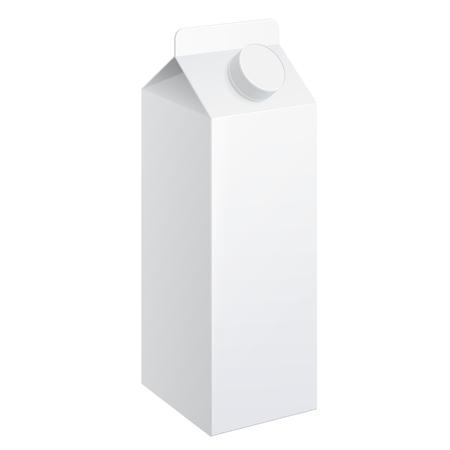carton de leche: Realistic carton of milk. carton package. vector illustration.