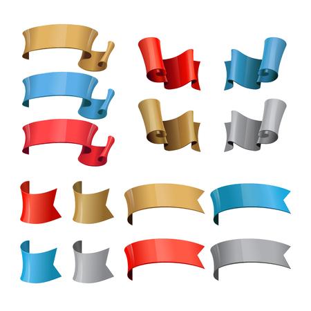 Vector ribbons. Set of elements for design