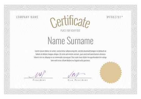 Certificate Vector Template Diplomas Currency Award Background
