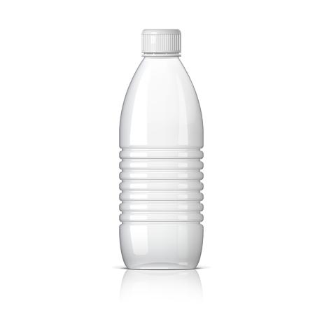 bouteille en plastique réaliste pour l'eau. Vector illustration Vecteurs