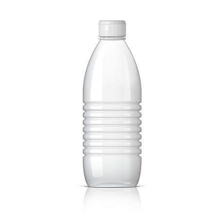 botella de plastico: Realistic plastic bottle for water. Vector illustration Vectores